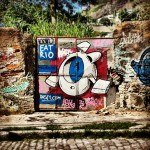 Our very own graffiti, courtesy of Dast from Bogotá.
